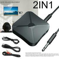 Bluetooth 5.0 Sender Empfänger Wireless Aux Audio TV Adapter Transmitter O1T3