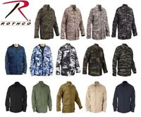 Solid & Camo Military Combat Tactical Poly/Cot Fatigue BDU Shirt Rothco BDU's