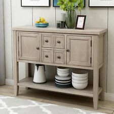 """46"""" Wood Console Table Storage CabinetDining Room Home Furniture, Antique Gray"""