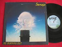 VG++ RARE ROCK LP - SEMAJA - NO BURNING OUT (1983) ORIGINAL - REFUGE 84001