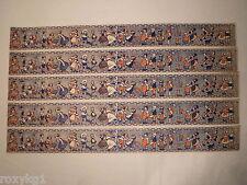 5x alte Bordüre Tapete Puppenstube 1920-50 50 cm dunkel