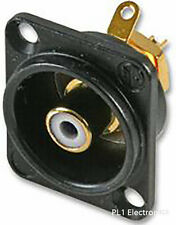 NEUTRIK - NF2D-B-9 - SOCKET, PHONO, BLACK, D, WHITE