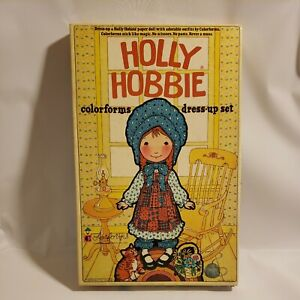 Vintage Holly Hobbie Colorforms DressUp Set Complete 1975 Made in USA Paper Doll