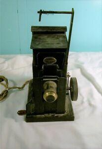 Antique Keystone, Hand Cranked 35mm Projector & Magic Lantern