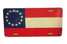 13 STAR SOUTHERN PRIDE FLAG LICENSE PLATE 6 X 12 INCHES NEW