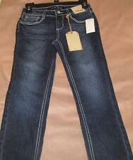 VANILLA STAR Girl's Size 10 Jeans With Adjustable Waist Sequins On Back Pockets