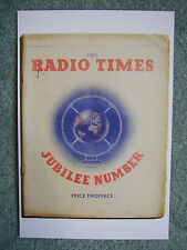 New Postcard Vtg Radio Times cover May 1935 Silver Jubilee King George V UK GB