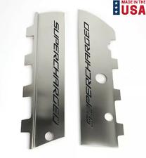 "Fuel Rail Covers Black Carbon Fiber ""Supercharged"" Inlay 2015-2019 Corvette Z06"
