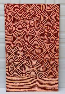 "Painting By Famous Australian Aboriginal Artist KATHERINE NAKAMARRA 59"" X 36"""
