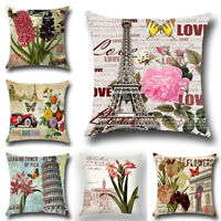 "18"" Cotton Linen Throw Home Decor Pillow Case Sofa Waist Cushion Cover Gifts"