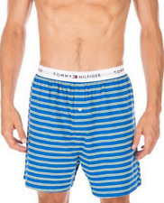 $42 TOMMY HILFIGER UNDERWEAR MEN'S BLUE YELLOW CLASSIC KNIT BOXER SHORTS SIZE S
