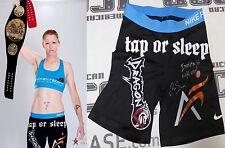 Tonya Evinger Signed Invicta FC 17 Fight Worn Used Shorts Trunks PSA/DNA MMA UFC