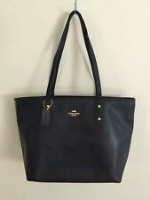 NWT Coach F58846 Crossgrain Leather Tote Shoulder bag Purse Black