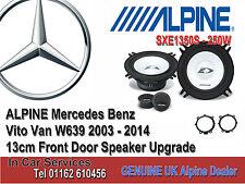 MERCEDES Vito w639 2003-2014 Porta Anteriore ALPINE car speaker UPGRADE KIT 250w