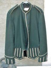 WW2 Scottish British Army Piper Military Doublet Uniform Dress Jacket WhitePiped