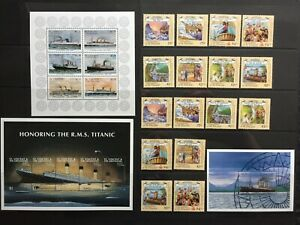 1990s  GRENADINES OF ST VINCENT SHIP STAMPS & MINISHEETS - MARITIME - MNH -(CH96