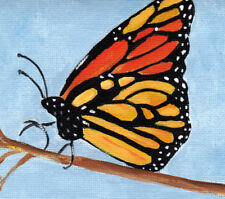 Hurricane Harvey  victoms auction Monarch Butterfly 4 x 4 original