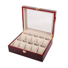 10 Slot Wood Watch display box M1C8