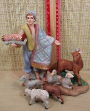 """Thomas Kinkade Nativity 5 Figurines """"Gifts For My King & Gathering In Praise"""""""