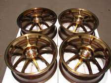 """17"""" Bronze Effect Wheels Rims Golf Jetta Passat S40 Integra Civic Sentra SER"""
