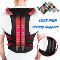 Men Women Adjustable Back Posture Corrector Support Shoulder Lumbar Brace Belt