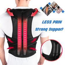 Men Women Adjustable Back Posture Corrector Support Shoulder Lumbar Brace Belt