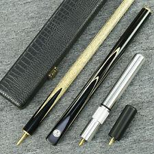"""Grand-Cues"" 58"" 3/4 Jointed Ash Shaft Black Ebony Handmade Snooker Cue Set@YP13"