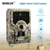 BOBLOV 12MP Hunting Camera 1080P 940NM 120°Wild Lens Game Scouting Trail Camera
