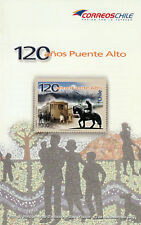 Chile 2012 Brochure - 120 years Puente Alto - no stamp