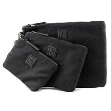 Tommy Hilfiger 3 Pouch Set Women Black Cosmetic Bag