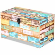 73cm Recycled Wood Vintage Retro Look Treasure Trunk Storage Box Cabinet Chest
