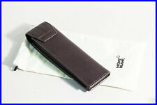 MONTBLANC 4810 Westside smooth brown leather pen pouch with magnet closure