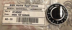 Vintage Thermador  Burner Knob Black 00414502,