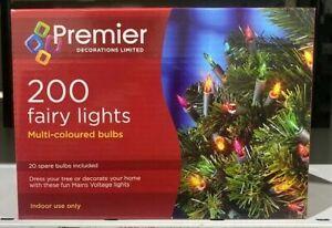 Premier LI96001M 200 Fairy Lights-Multi Coloured
