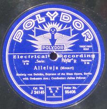 78 trs / 78 RPM Mozart Edwig von Debicka  Julius Prüwer Polydor 95406  NM -