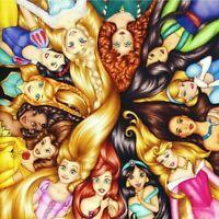 5D Diamond Painting Disney Princess Cartoon Characters Full Drill Embroidery Kit