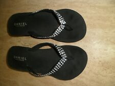 DANIEL Sparkly Flip flop Toe Post Mule UK 7 EU 40 Worn Once