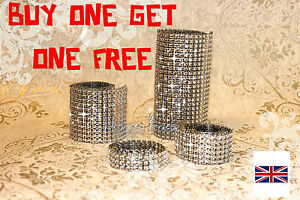 sale!!!!!     SILVER DIAMOND MESH WRAP SPARKLE RHINESTONE Crystal Ribbon
