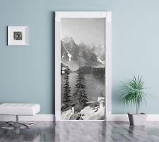 Morrena Lake Canadiense Montañas Arte Carbón Efecto - Pegatinas de Puertas
