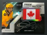 2019-20 UD Black Dante Fabbro Rookie Pride Of A Nation Auto /99
