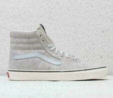 Vans SK8 Hi (Hairy Suede) Gray Dawn/Snow White Mens Skate Shoes