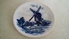 Pretty vintage Delft blue hand painted decorative plate