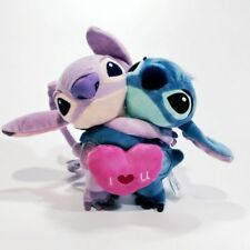 "NEW Lilo and Stitch Girlfriend ""Angel"" Hug With Red Heart Plush Toy""I LOVE U"""