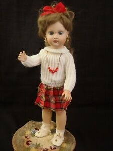 """EJ JUMEAU"" BISQUE DOLL reproduction by Joyce Watkins 1981 15"" tall"