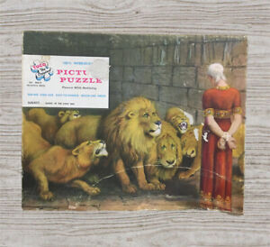 "Vintage Tuco Original Puzzle ""Daniel In The Lions Den""  Religious 800-R  #A4"