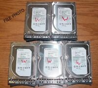 "(Lot of 5) Seagate 3TB SAS 3.5"" Hard Drives ST33000650SS w/Tray IBM System X"