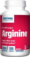 JARROW FORMULAS Arginin 1000mg 100 Veg. Tabletten, VERSAND WELTWEIT