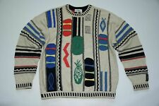 Carlo Colucci sweater vintage multicolored jumper wool size 50 M medium RARE