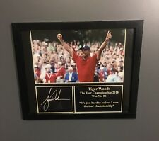 Tiger Woods Framed Photo Signed Memorabilia -  Win 80 The Tour Championship 2018