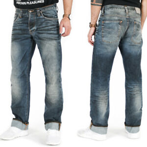 B-WARE - Nudie Herren Regular Fit Jeans Hose | Average Joe Black Coated